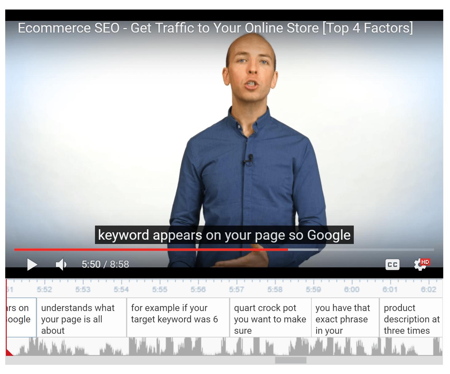youtube automatic transcription2