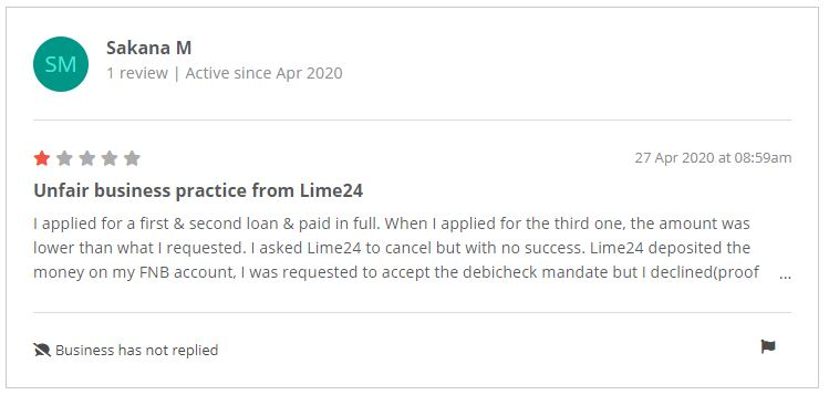 Lime24 specific feedback
