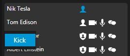 Opzione del menu Caccia un utente in 3CX WebMeeting.