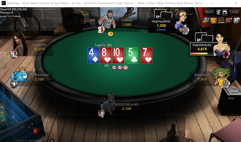 RedKings Poker игровой стол