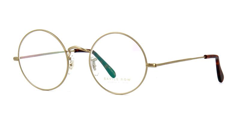 Savile Row 18kt Round Eye Matte Gold Matte Gold Glasses | Pretavoir
