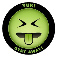 """[Image is """"Mr. Yuk,"""" a disgusted looking green emoji. The emoji is surrounded by a thick black outline, which has the words """"Yuk!"""" and """"Stay away!"""" written on it in all caps.]"""
