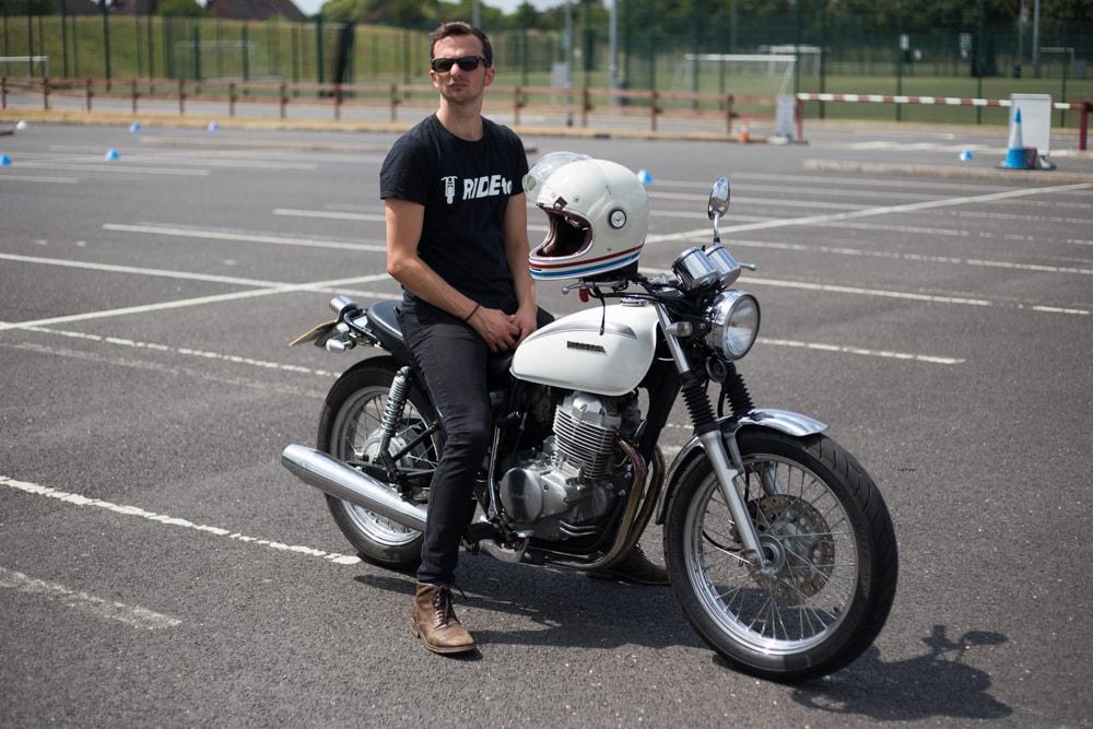 RideTo Founder on his bike