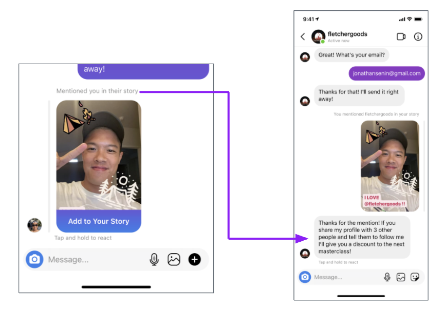 how to use manychat to build instagram relationships