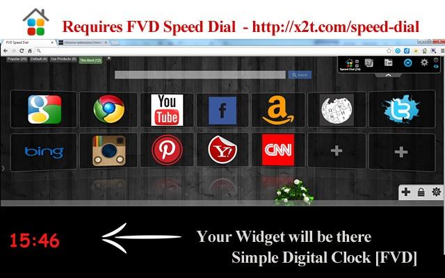 Simple Digital Clock [FVD] chrome extension