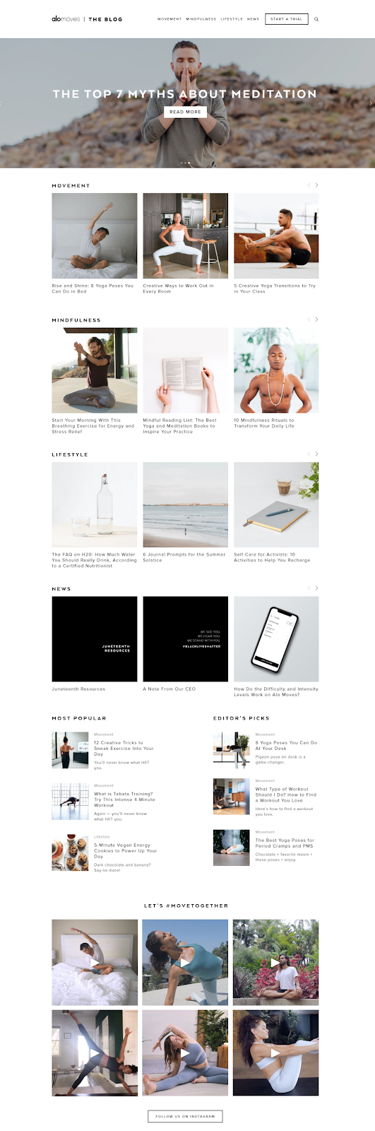 How to Build a Fitness Website: blog