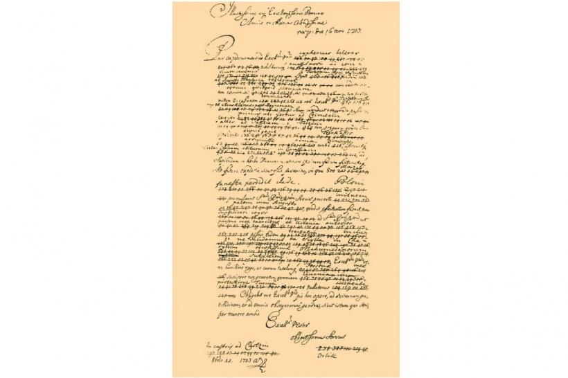 Зашифрованное письмо Филиппа Орлика