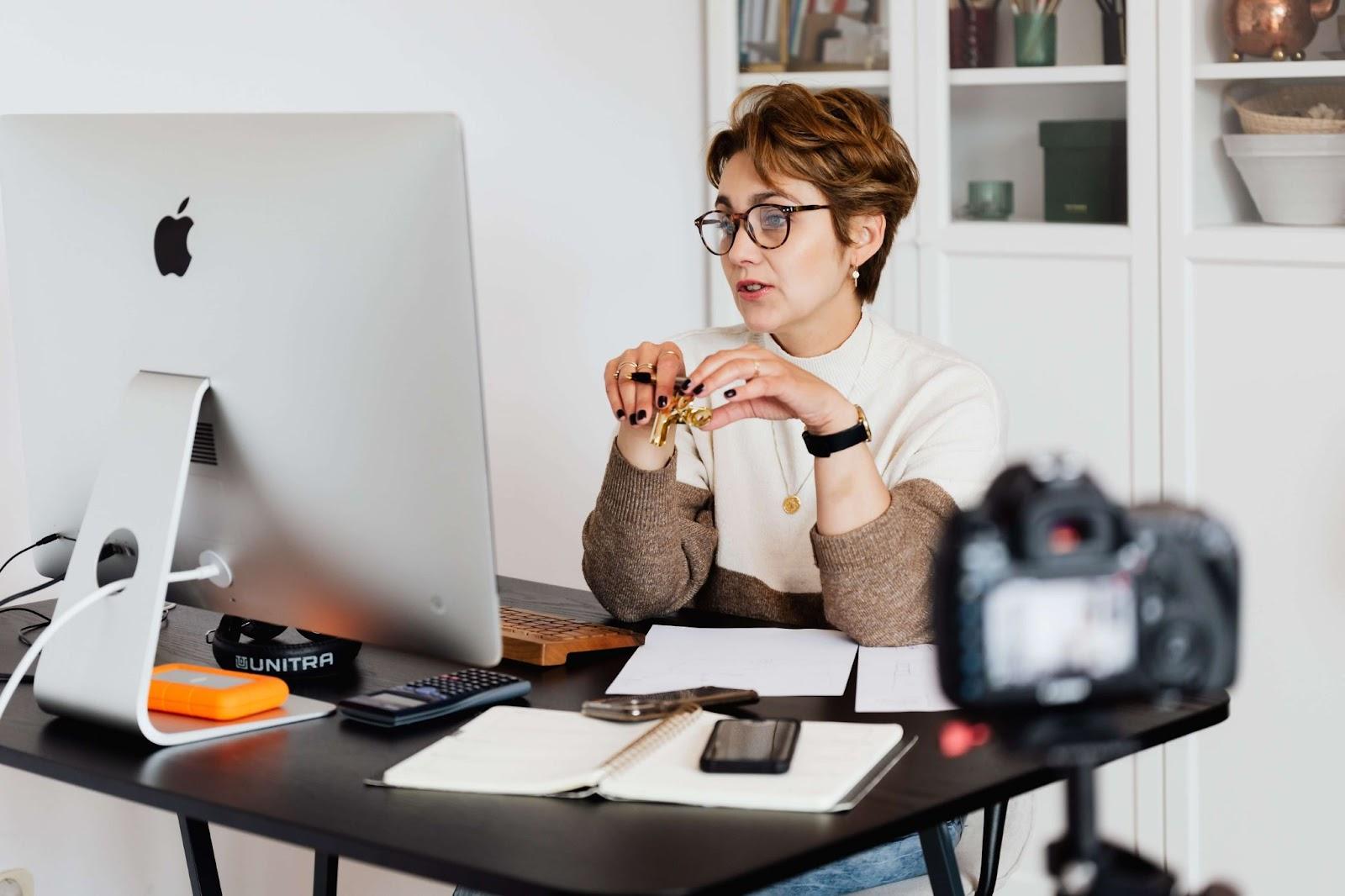 Filming training video