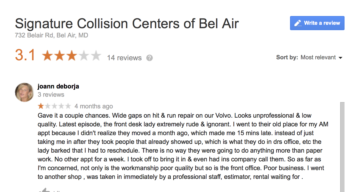Collision Centers review