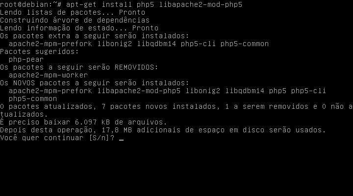 Debian 7 LAMP Apache 2