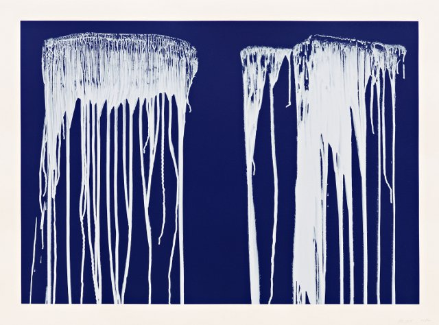 Untitled Pat Steir painting.