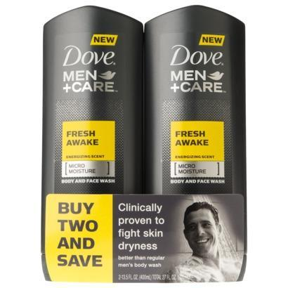 Dove Men 2 Pack Body Wash - Fresh Awake