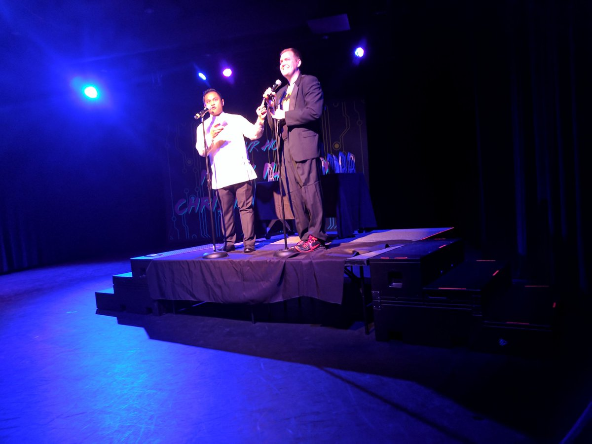 Mikey Ilagan & Christopher Wink Kicking of the Philly Geek Awards