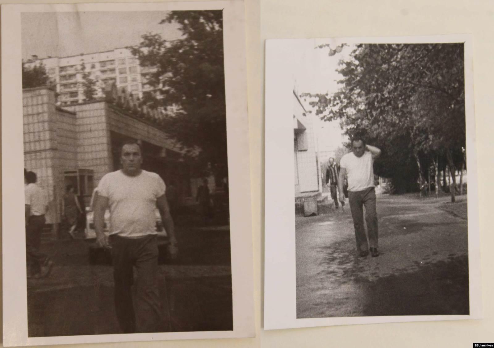 Василий Гриб на следующий день после отлета жены и дочери. Снимки сделаны группой наружного наблюдения КГБ с помощью скрытой камеры