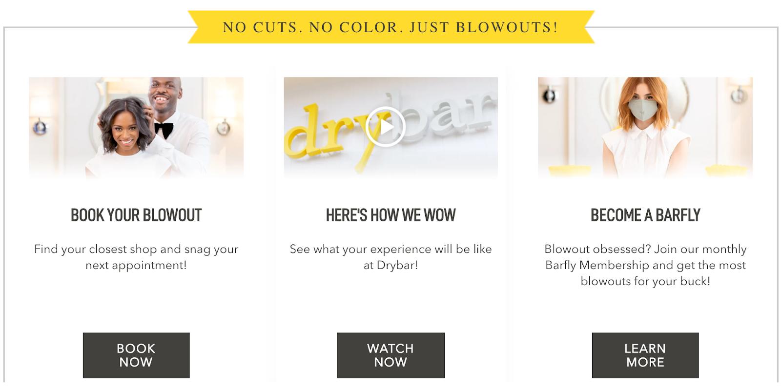 Drybar a niche hair salon that only does blowouts