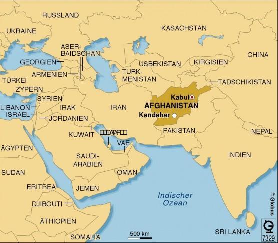 Afghanistan und seine Nachbarn (Globus Infografik)