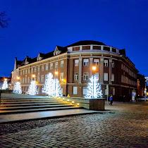 Harju tn, Tallinna, Viro, talvi, joulu, valmiina Jouluksi, joulutunnelmista