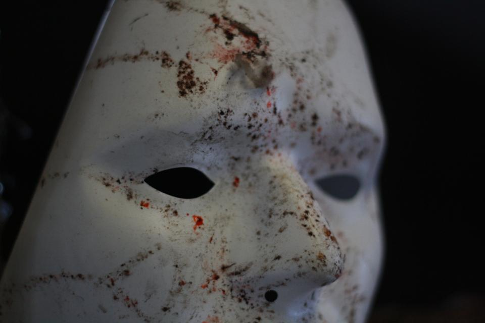 mask, theatre, white, face, scary, horror, blood, halloween
