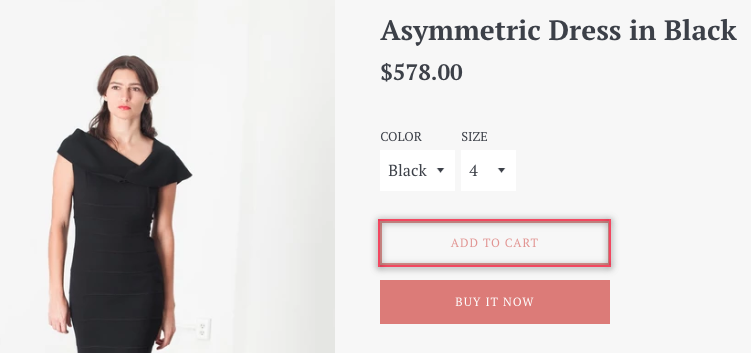 Selecting add to cart button