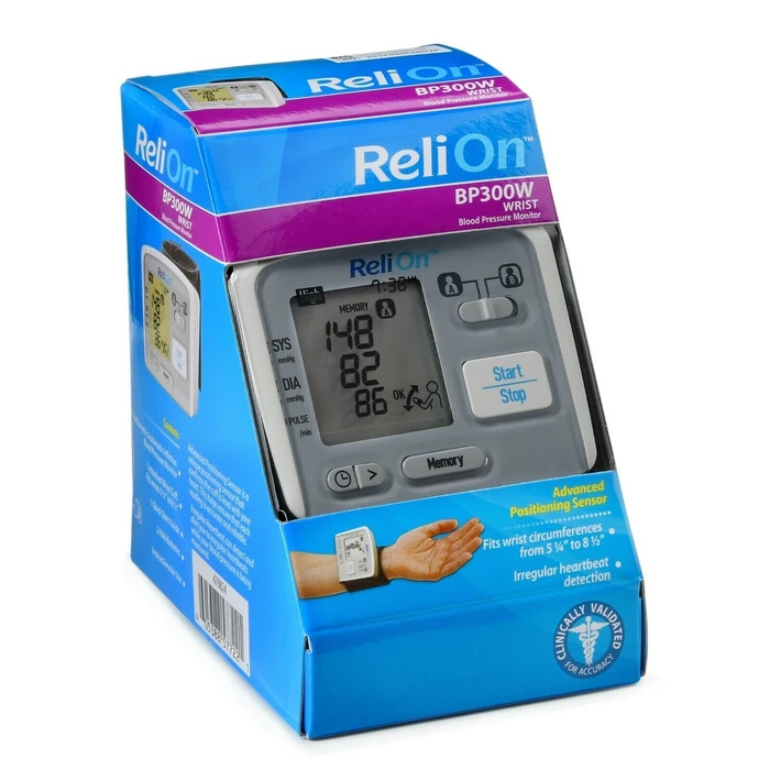 image of ReliOn blood pressure monitor
