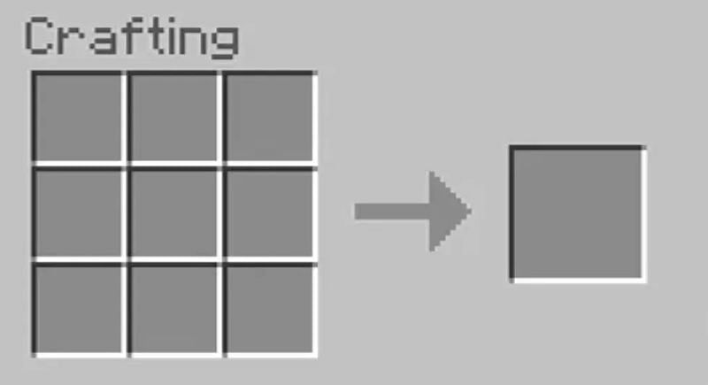 Open the crafting table GUI