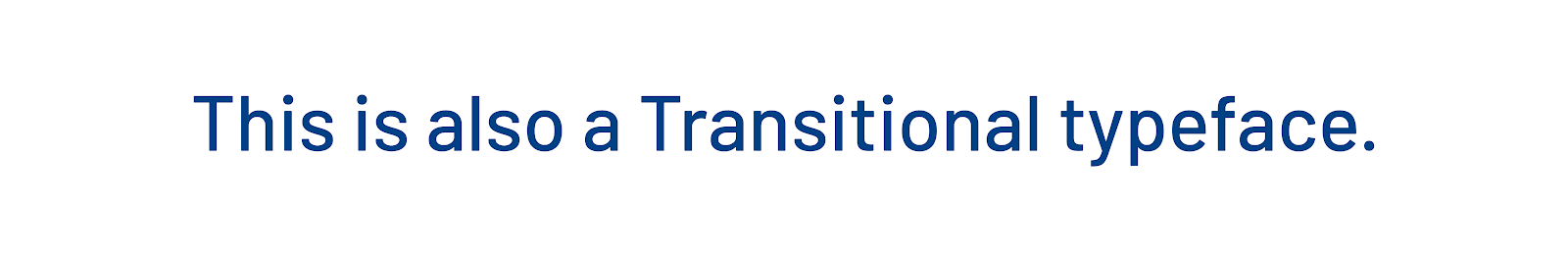 Transitional typeface