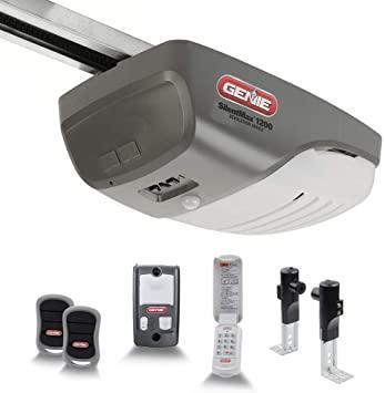 Genie SilentMax 1200 Model 4042-TKH Garage Door Opener with Motion Detection Lighting, Ultra-Quiet Steel-Reinforced Belt Drive, 140V DC Motor, 3/4 + HPc 140V Belt Drive, Gray