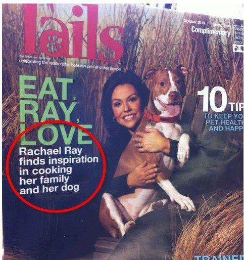 Rachael Ray inspiration cooking her family and her dog