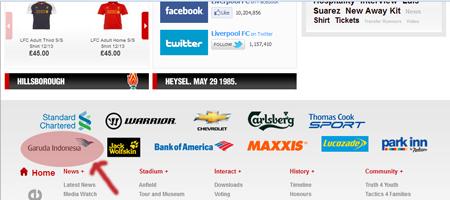Garuda Indonesia sponsori Liverpool FC