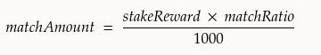 Formula for Foundation's reward