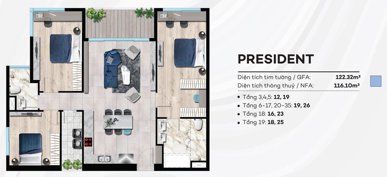 thiết kế căn hộ the sóng