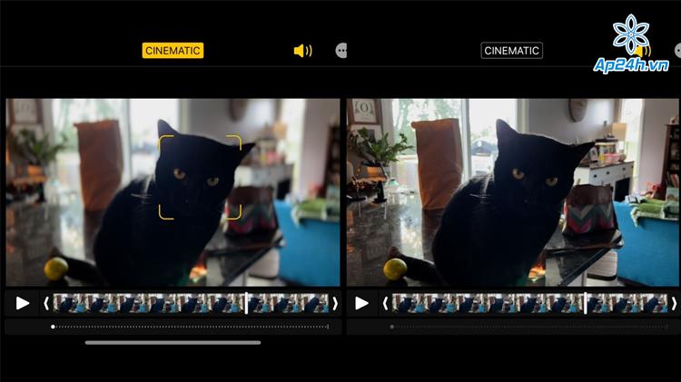 Chế độ Cinematic giúp quay video lấy nét tốt hơn