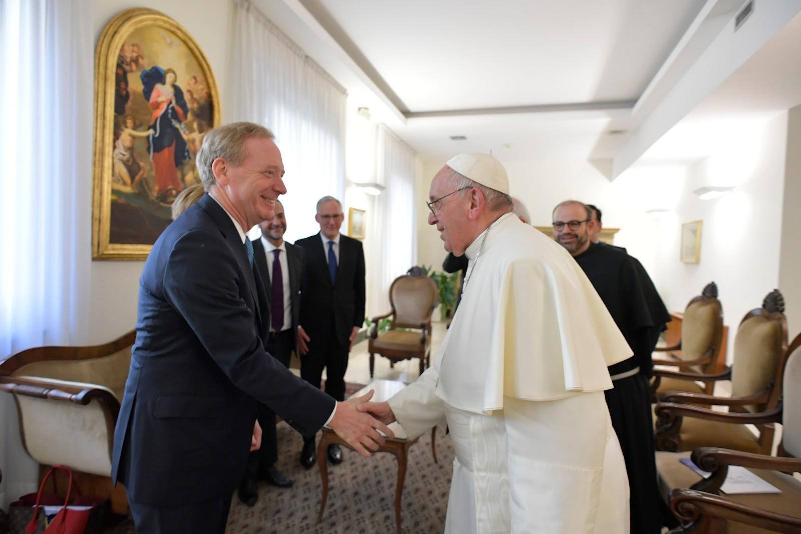 Roma: Đức Thánh Cha tiếp Chủ tịch Microsoft Brad Smith