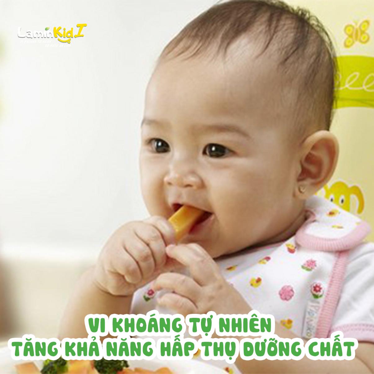 Vi khoáng tự nhiên giúp cho trẻ hấp thu dưỡng chất