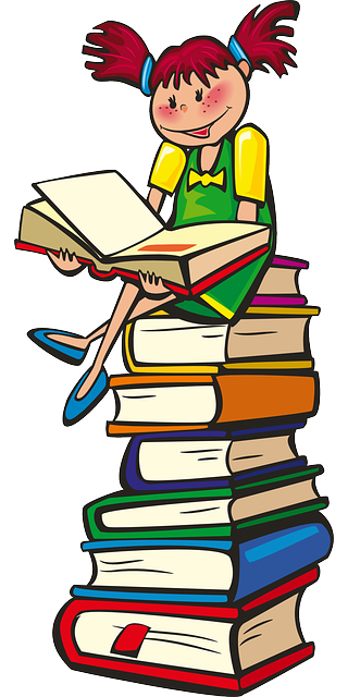 Girl, Books, School, Reading,