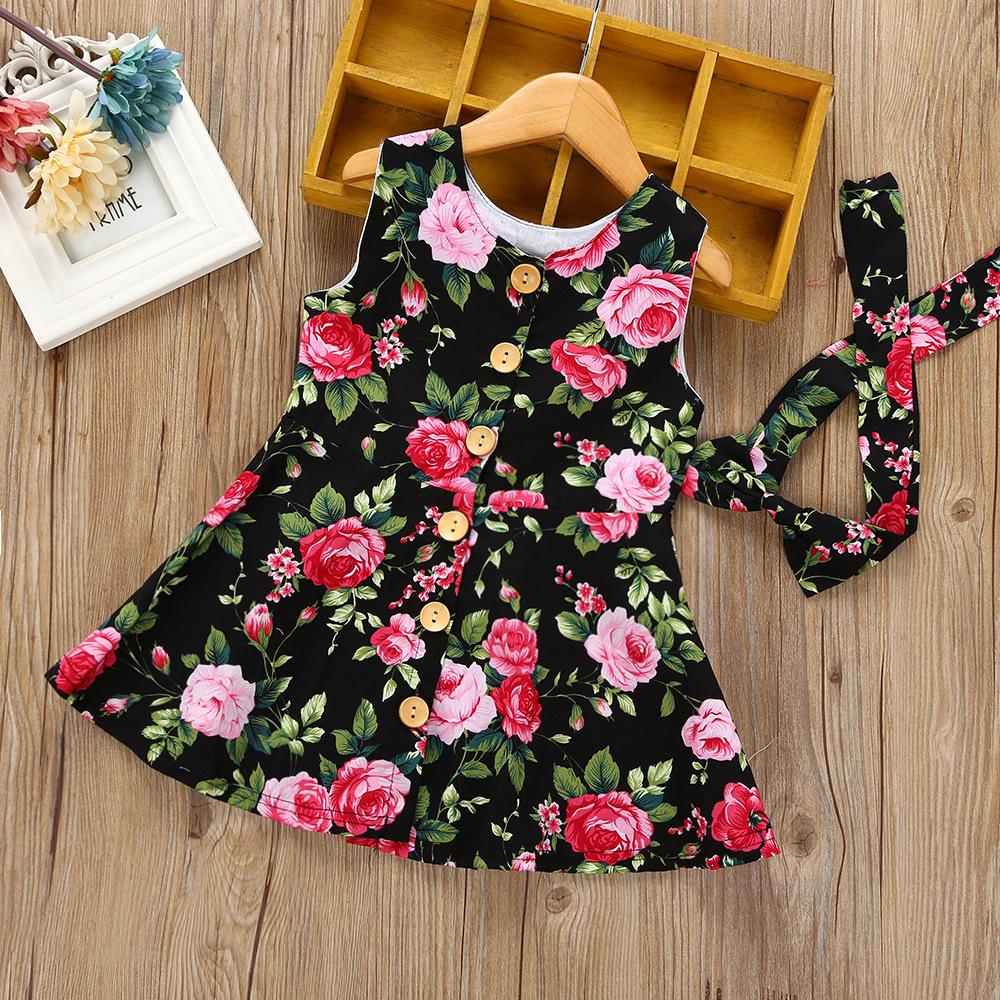 Sukienka w kwiatki dla dziewczynki