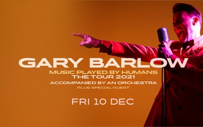 gary barlow music played by humans tour 2021 poster