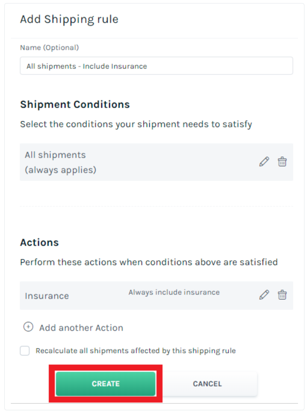 Easyship Shipping Rules Feature for Merchants