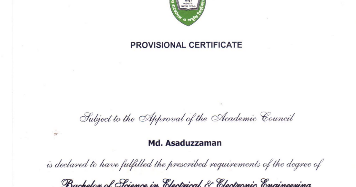 Kuet Provisional Certificatepdf Google Drive