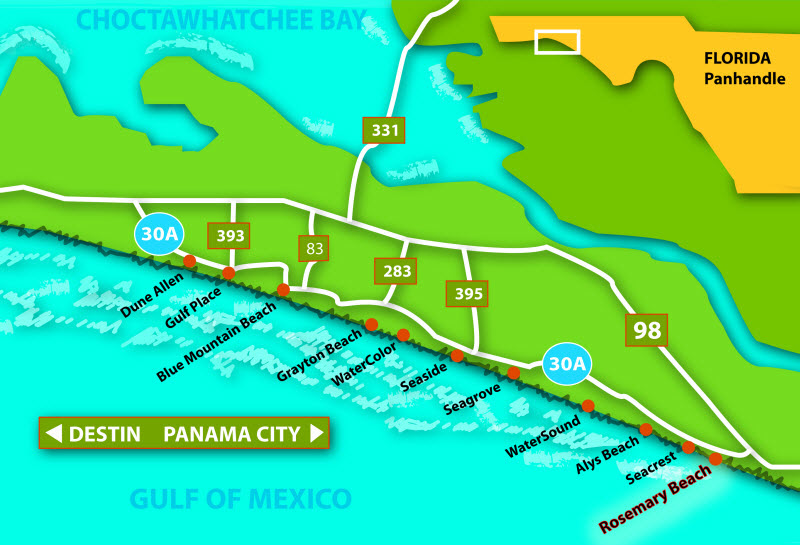 Scenic Highway 30A - Discover the top 3 interesting facts about this beautiful corridor that embraces the coastline of Gulf Mexico.