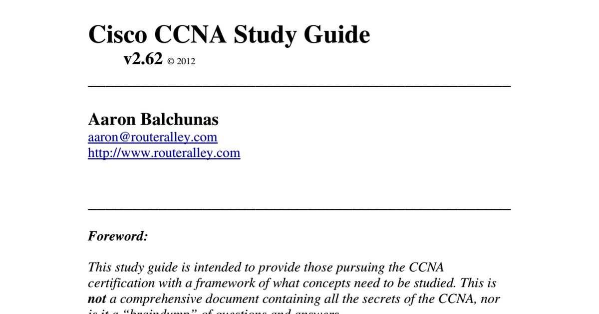 Ccna Study Guide Router Alley Pdf Google Drive