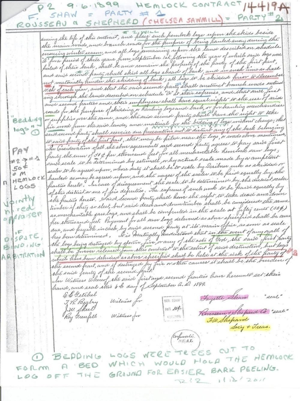 C:\Users\Robert P. Rusch\Desktop\II. RLHSoc\Documents & Photos-Scanned\Rib Lake History 14400-14499\14419A-F.W. Shephard-secretary & treasurer signs for Rousseau & Shephard.jpg