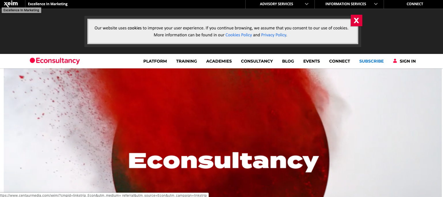 Learn Marketing: This is a global consultancy website that has many options to teach its users about the different aspects of digital marketing
