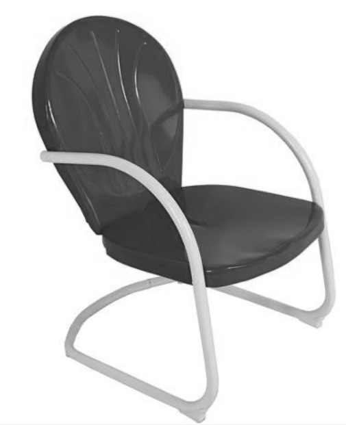 1950s Metal Clamshell Lawn Chair.png