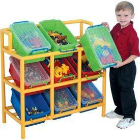 Tilt Bin Storage Unit - Avail 10% OFF using Coupon: val10.  This sturdy unit offers great storage solutions for your little one's toys and is sure to guarantee a hassle free clean-up! Each of the bins have lock-tight covers to prevent spillage and rounded edges for safety. Order Today!