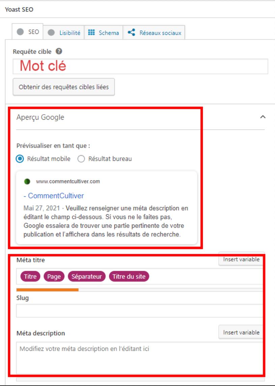Paramétrage Yoast SEO - Plugin SEO WordPress