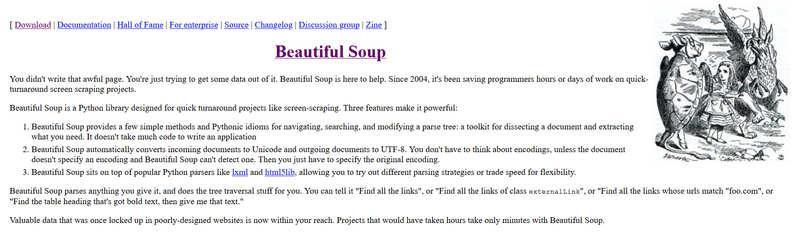 BeautifulSoup – предназначен для парсинга HTML и XML