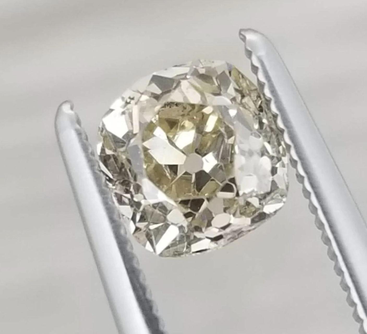 Old mine cut champagne diamond