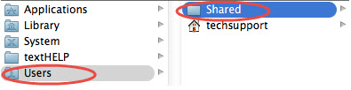Users Shared location window