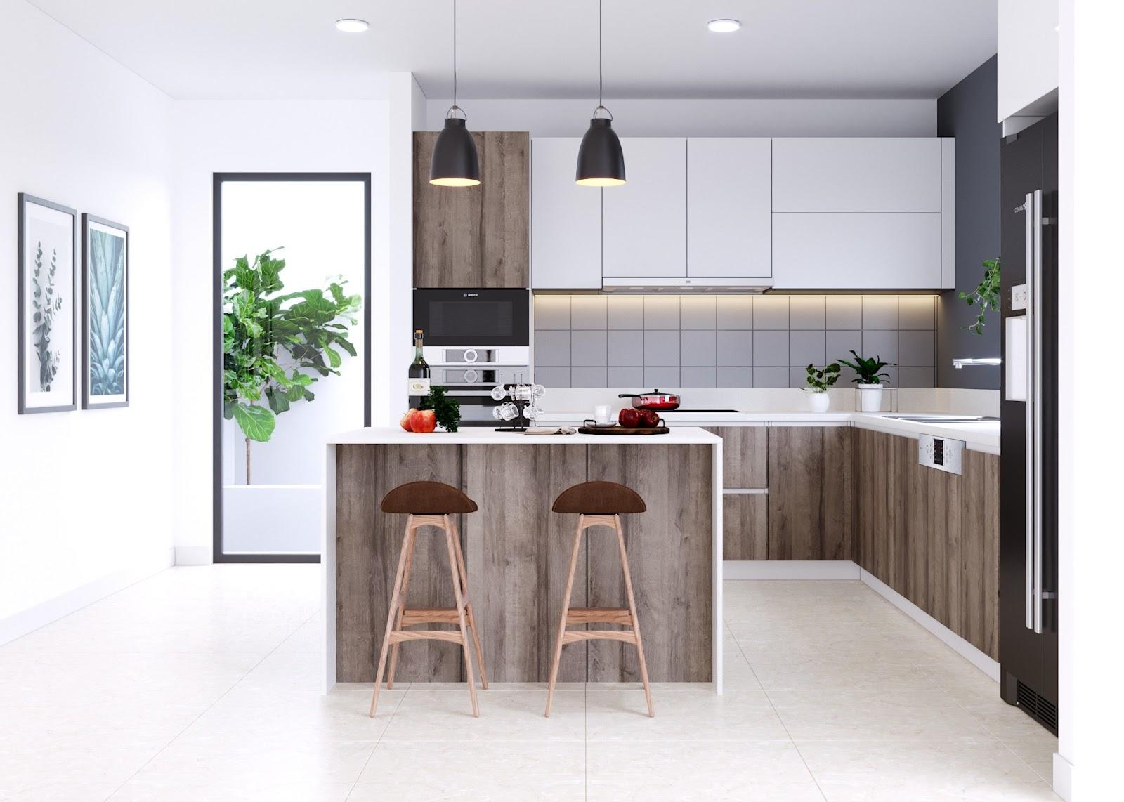 Kiến trúc nội thất bếp mang phong cách hiện đại